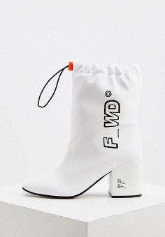 Ботильоны, F_WD, цвет: белый. Артикул: FW001AWKFZU3. Обувь / Ботильоны