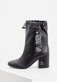 Полусапоги, F_WD, цвет: черный. Артикул: FW001AWKFZU4. Обувь / Сапоги / Полусапоги