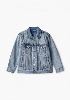 Куртка джинсовая, Gap, цвет: голубой. Артикул: GA020EBIDQV6.