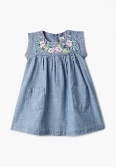 Платье джинсовое, Gap, цвет: синий. Артикул: GA020EGIDQH3. Девочкам / Одежда / Платья и сарафаны