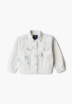 Куртка джинсовая, Gap, цвет: белый. Артикул: GA020EGIWEB8.