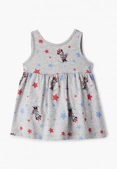 Платье, Gap, цвет: серый. Артикул: GA020EGJJIS0. Девочкам / Одежда / Платья и сарафаны