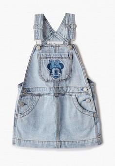 Платье джинсовое, Gap, цвет: голубой. Артикул: GA020EGKANS0.