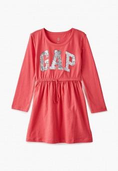 Платье, Gap, цвет: коралловый. Артикул: GA020EGKAOQ9.