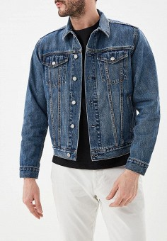Куртка джинсовая, Gap, цвет: синий. Артикул: GA020EMEFZK0.