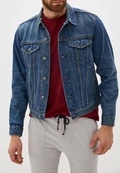 Куртка джинсовая, Gap, цвет: синий. Артикул: GA020EMFZBV1. Одежда / Верхняя одежда / Джинсовые куртки