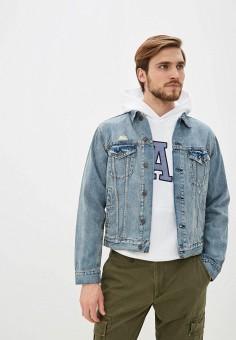 Куртка джинсовая, Gap, цвет: синий. Артикул: GA020EMIDKQ7. Одежда / Верхняя одежда / Джинсовые куртки