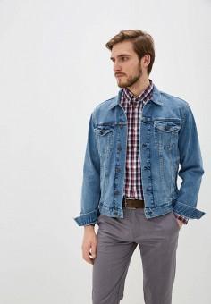 Куртка джинсовая, Gap, цвет: синий. Артикул: GA020EMINJB1. Одежда / Верхняя одежда / Джинсовые куртки