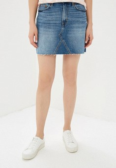 Юбка джинсовая, Gap, цвет: синий. Артикул: GA020EWEGHT2. Одежда / Юбки