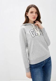 Худи, Gap, цвет: серый. Артикул: GA020EWIDVX5. Одежда / Толстовки и свитшоты