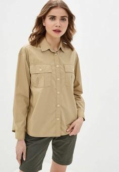 Рубашка, Gap, цвет: бежевый. Артикул: GA020EWIDWA4. Одежда / Блузы и рубашки / Рубашки