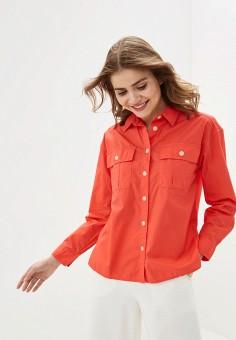 Рубашка, Gap, цвет: коралловый. Артикул: GA020EWIDWA5. Одежда / Блузы и рубашки / Рубашки