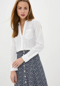 Блуза, Gap, цвет: белый. Артикул: GA020EWIDWE6. Одежда / Блузы и рубашки / Блузы