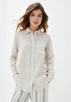 Рубашка, Gap, цвет: бежевый. Артикул: GA020EWIDWE9. Одежда / Блузы и рубашки