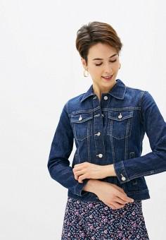 Куртка джинсовая, Gap, цвет: синий. Артикул: GA020EWIDWI5.