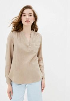 Блуза, Gap, цвет: бежевый. Артикул: GA020EWIDWJ2.