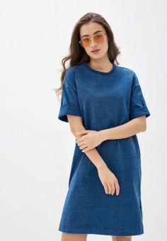 Платье джинсовое, Gap, цвет: синий. Артикул: GA020EWIDWO7.