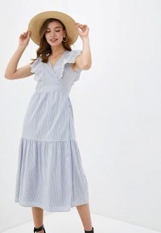 Платье, Gap, цвет: синий. Артикул: GA020EWIDWQ5.