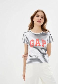 Футболка, Gap, цвет: белый. Артикул: GA020EWIDWV9. Одежда / Футболки и поло