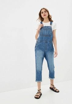 Комбинезон джинсовый, Gap, цвет: синий. Артикул: GA020EWIDWX4. Одежда / Комбинезоны