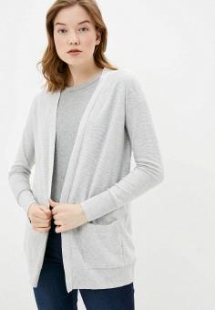 Кардиган, Gap, цвет: серый. Артикул: GA020EWIDXF2. Одежда / Джемперы, свитеры и кардиганы / Кардиганы
