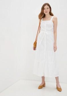 Сарафан, Gap, цвет: белый. Артикул: GA020EWIDXL9. Одежда / Платья и сарафаны