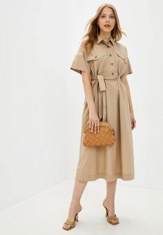 Платье, Gap, цвет: бежевый. Артикул: GA020EWKBFL3.