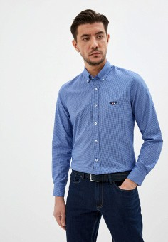 Рубашка, Galvanni, цвет: синий. Артикул: GA024EMJFDN8. Одежда / Рубашки
