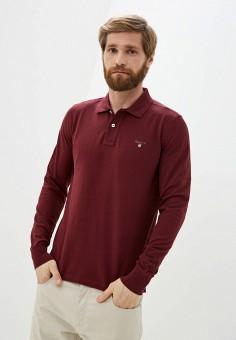 Поло, Gant, цвет: бордовый. Артикул: GA121EMKBXI9. Одежда / Футболки и поло / Поло
