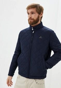 Куртка утепленная, Gant, цвет: синий. Артикул: GA121EMKBXL6. Одежда / Верхняя одежда / Демисезонные куртки