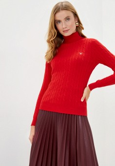 Водолазка, Gant, цвет: красный. Артикул: GA121EWKBYH1. Одежда / Джемперы, свитеры и кардиганы / Водолазки