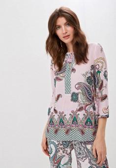 Блуза, Gerry Weber, цвет: фиолетовый. Артикул: GE002EWDJTR1. Одежда / Одежда больших размеров