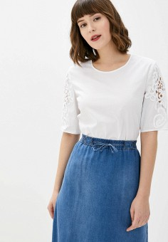 Блуза, Gerry Weber, цвет: белый. Артикул: GE002EWHRNV2. Одежда