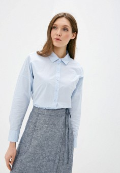Рубашка, Gerry Weber, цвет: голубой. Артикул: GE002EWJGNA2. Одежда / Блузы и рубашки / Рубашки