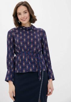 Блуза, Gerry Weber, цвет: синий. Артикул: GE002EWJIVF6. Одежда / Блузы и рубашки / Блузы