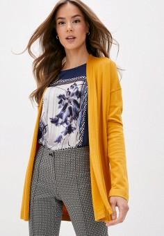 Кардиган, Gerry Weber, цвет: желтый. Артикул: GE002EWJIVX5. Одежда / Джемперы, свитеры и кардиганы / Кардиганы