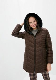 Куртка утепленная, Gerry Weber, цвет: коричневый. Артикул: GE002EWJIVZ7. Одежда / Верхняя одежда / Демисезонные куртки