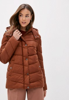 Куртка утепленная, Gerry Weber, цвет: коричневый. Артикул: GE002EWJIWA1. Одежда / Верхняя одежда / Демисезонные куртки