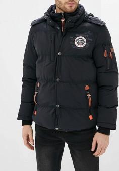 Куртка утепленная, Geographical Norway, цвет: черный. Артикул: GE015EMHKFO3. Одежда / Верхняя одежда / Демисезонные куртки