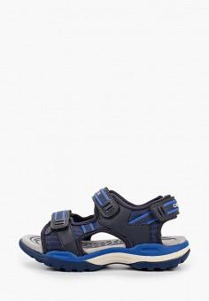 Сандалии, Geox, цвет: синий. Артикул: GE347ABIEDF9.