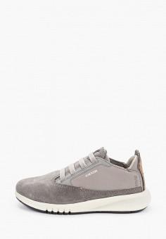 Кроссовки, Geox, цвет: серый. Артикул: GE347ABIEDL9.