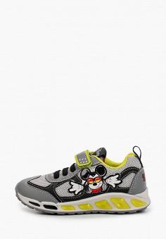 Кроссовки, Geox, цвет: серый. Артикул: GE347ABIEDP6. Мальчикам / Обувь / Кроссовки и кеды