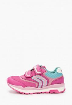Кроссовки, Geox, цвет: розовый. Артикул: GE347AGIEDN2.