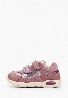 Кроссовки, Geox, цвет: розовый. Артикул: GE347AGKKSS2.