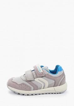 Кроссовки, Geox, цвет: серый. Артикул: GE347AKIEDN6. Мальчикам / Обувь / Кроссовки и кеды