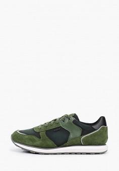 Кроссовки, Geox, цвет: зеленый. Артикул: GE347AMIEDY2.