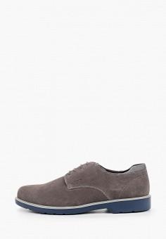 Туфли, Geox, цвет: серый. Артикул: GE347AMIEEA5.