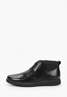 Ботинки, Geox, цвет: черный. Артикул: GE347AMKKQQ4. Обувь / Ботинки / Низкие ботинки