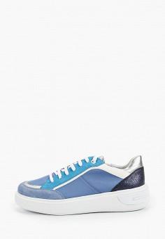 Кеды, Geox, цвет: синий. Артикул: GE347AWIECX7.