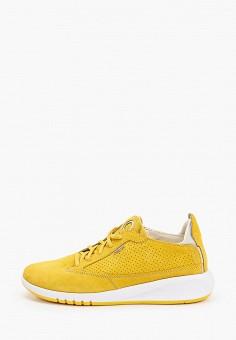 Кроссовки, Geox, цвет: желтый. Артикул: GE347AWIECZ5.